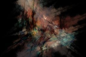 abstract fractal digital backdrop