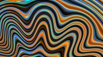 abstract pattern of blue and orange waves