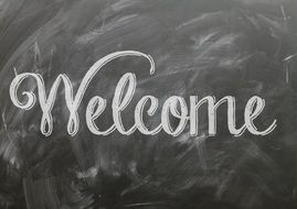 welcome quote sign poster
