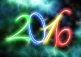 new year day eve 2016 colorful background