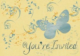 background card invitation paper