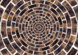 natural stones patch circle arches pattern