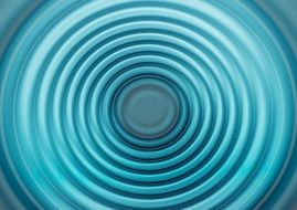 wave turquoise blue concentric