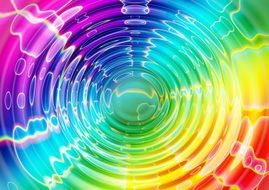 wave colorful color concentric