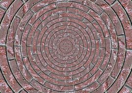 stones patch circle arches pattern natural stone