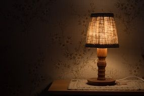 night lamp on the table