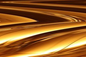abstract molten gold