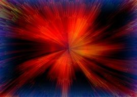 abstract image of bright red flare