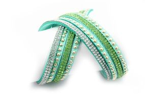 fashion jewelry bracelet green white swarovski crystals
