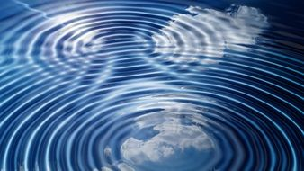 concentric waves circles water clouds