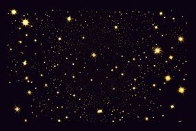 night sky with gold stars