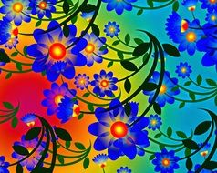 abstract background backdrop design colorful flowers