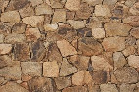 wall stones joints background