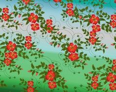 decorative floral background digital painting