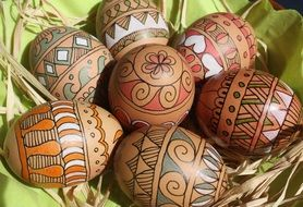beautiful colored easter eggs