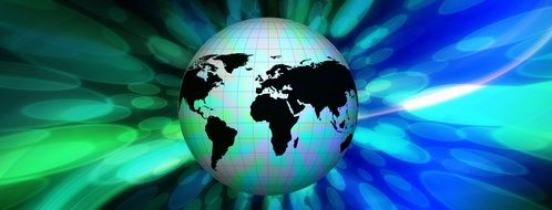globe bokeh background earth world europe africa united states of america