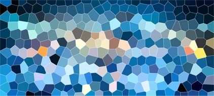 blue mosaic structure pattern background