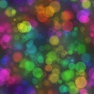 colorful bubbles on a grey background