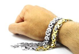 white and yellow gold bracelets fashion jewelry