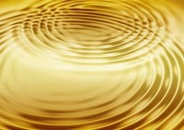 wave gold concentric waves circles
