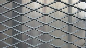 grid metal drawn steel texture