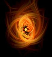 abstract fire swirl