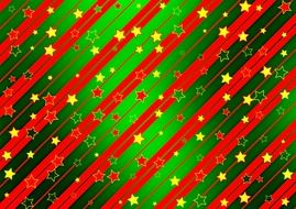green background with christmas red stars
