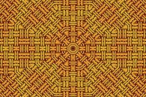 background with yellow symmetrical pattern