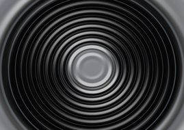 wave black white concentric