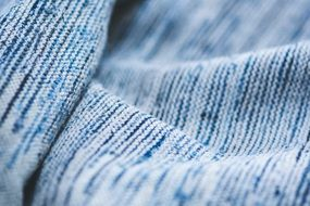 blue textile closeup