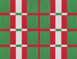 fabric green grey red pattern