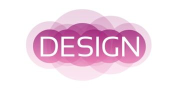 design logo icon text web pink