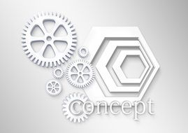 creative logo with gears