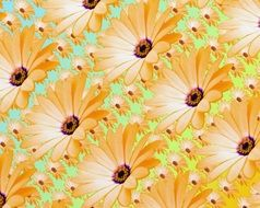 background backdrop flowers patterns digital painting
