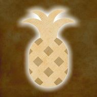pineapple on a brown background