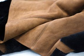 leather clothing background closeup