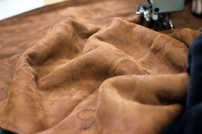 leather sewing machine clothing