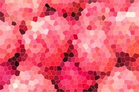 mosaic with shades of pink