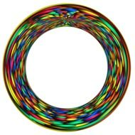 colorful ring form pattern