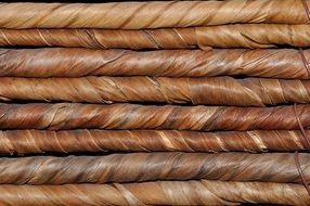 natural material brown woven braid