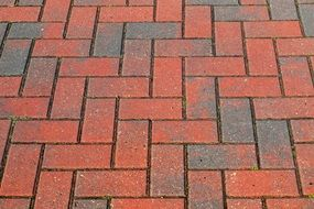 red paving slabs patter