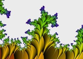 fractal absract plants