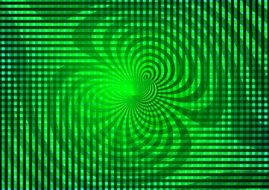 green magnetic field lines