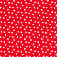 christmas pattern white stars red background