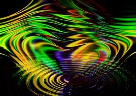 wave abstract rainbow color lines