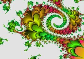 fractal abstraction on a white background