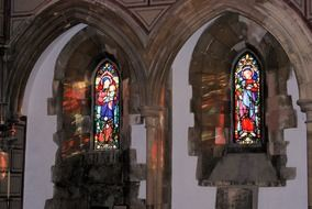 stained glass church windows