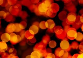 background with defocused orange lights