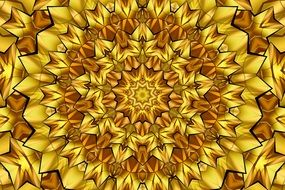 abstract golden yellow flower