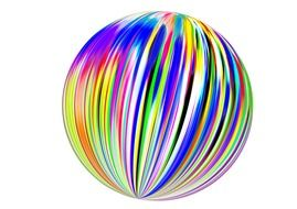 color spectrum ball abstract design